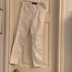 White jeans from Hollister